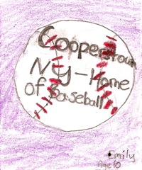 Cooperstown, NY, baseball graphic
